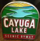 Cayuga Lake Scenic Byway Geocache Coin Front View
