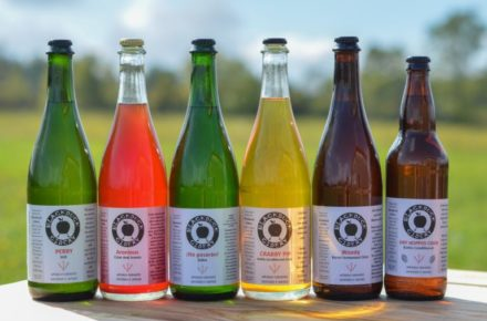 Six bottles of Black Duck Cidery beverage including Perry, Aronious, No pasaran, Crabby Pip, Woody and Dry Hopped Cider