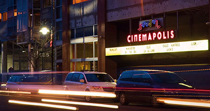 Cinemapolis Movie Theater Front Photo from Green Street City of Ithaca