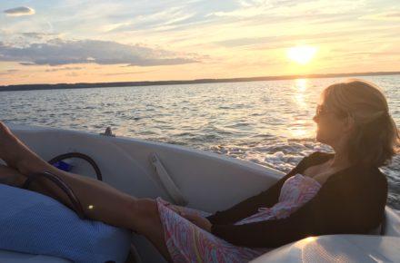 Boating on Cayuga Lake
