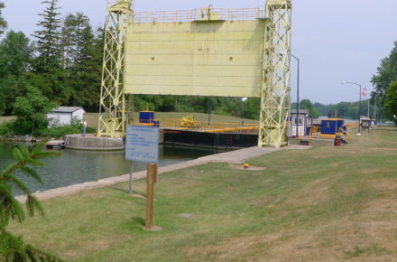 Cayuga-Seneca Canal Lock 1 the entrance gate to the lock