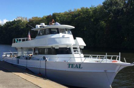 Discover Cayuga Lake Boat Tours MV Teal boat